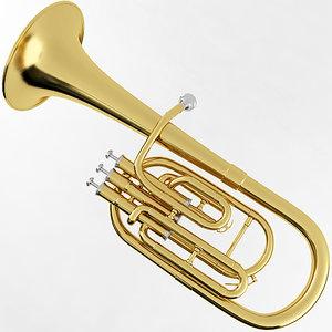 3D model alto horn