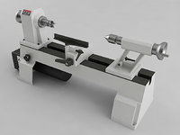 3D variable speed mini lathe model