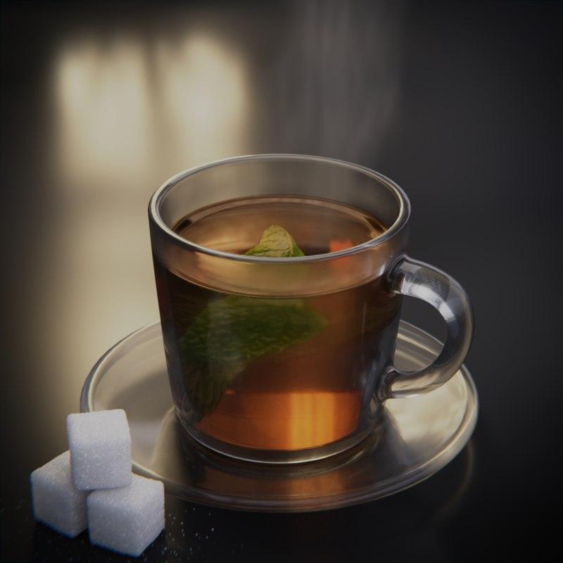 glass cup tea model