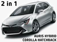 corolla hatchback auris 3D model