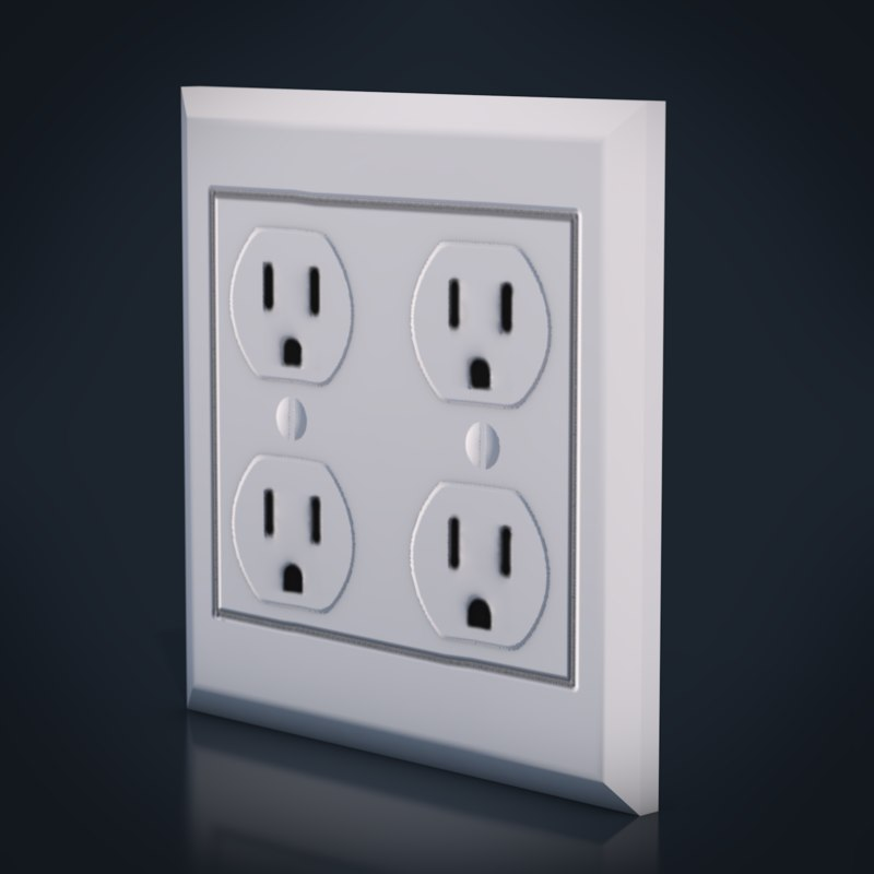 electrical outlet version 2 3D