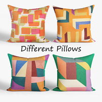 decorative pillows habitat set 3D model