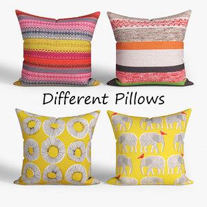 3D decorative pillows habitat set