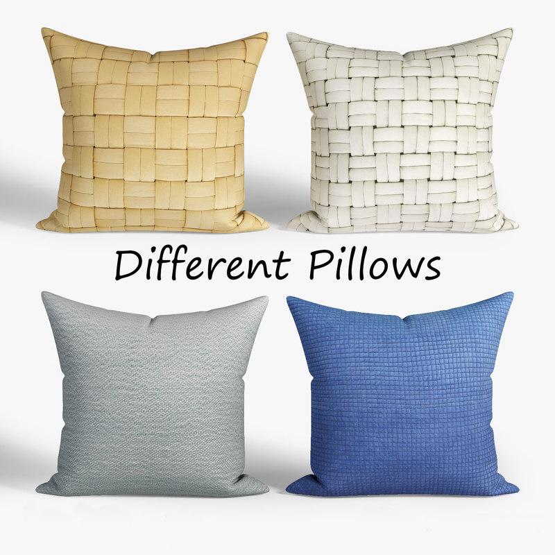 decorative pillows habitat set 3D model