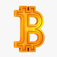 3D bitcoin symbol