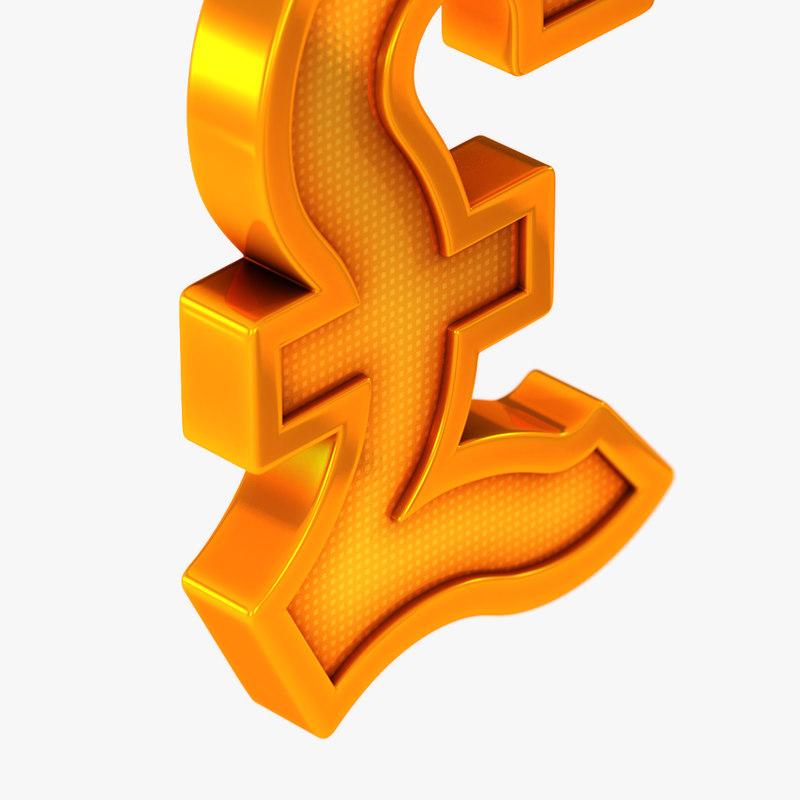 3d British Pound Symbol Model Turbosquid 1297823
