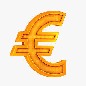 symbol euro 3D