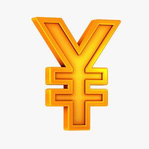 yen symbol model
