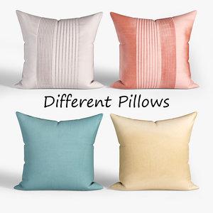 decorative pillows wayfair set 3D model