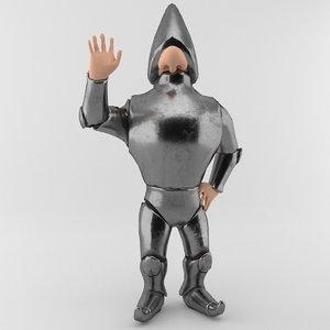 rigged cartoon soldier 3D