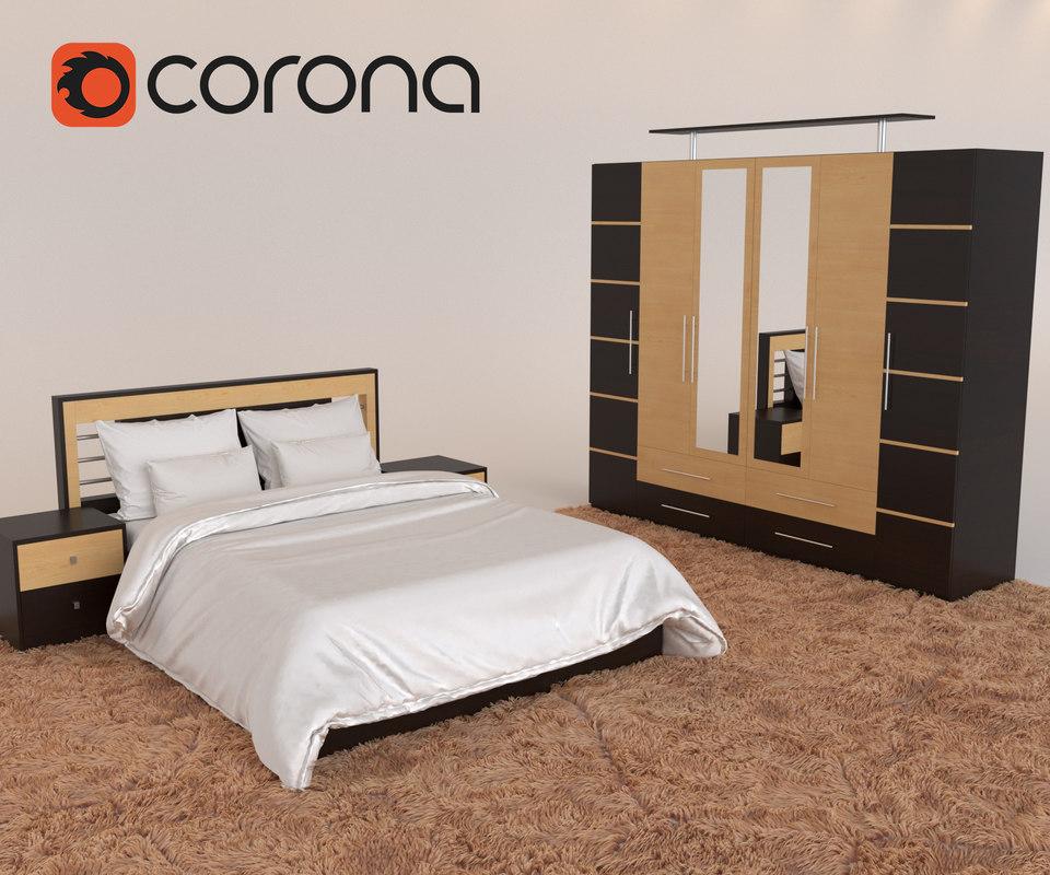 3D majestic bedroom set design