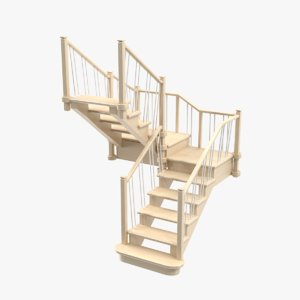 stair structures architecture 3D model