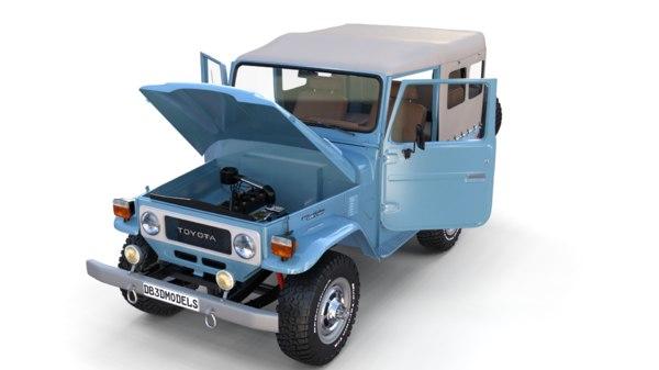 3D toyota land cruiser interior