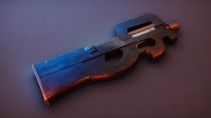 stylized p90 3D model