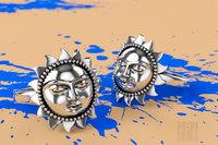 3D golden ring form sun model