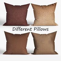 3D decorative pillows wayfair set model