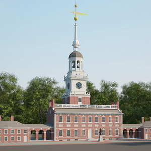 3D independence hall model