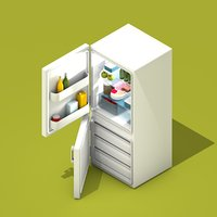3D fridge freezer model