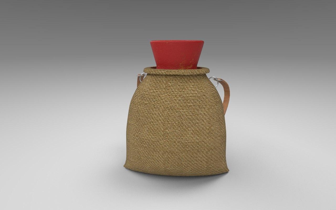 3D model pot backpack