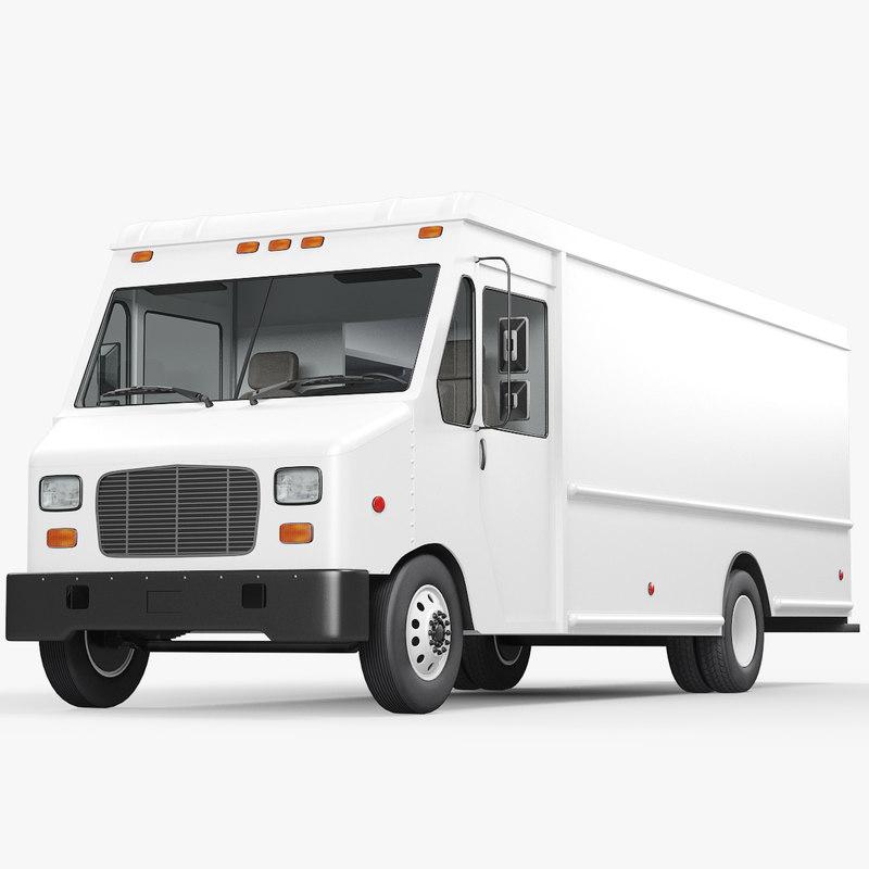 box truck freightliner mt45 3D model