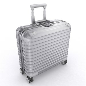 3D aluminium business trolley model