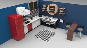 3D kitchen mutfak sink