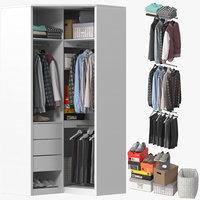 3D model wardrobe clothes 10