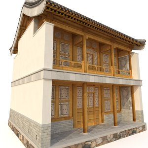 chinese storey building model