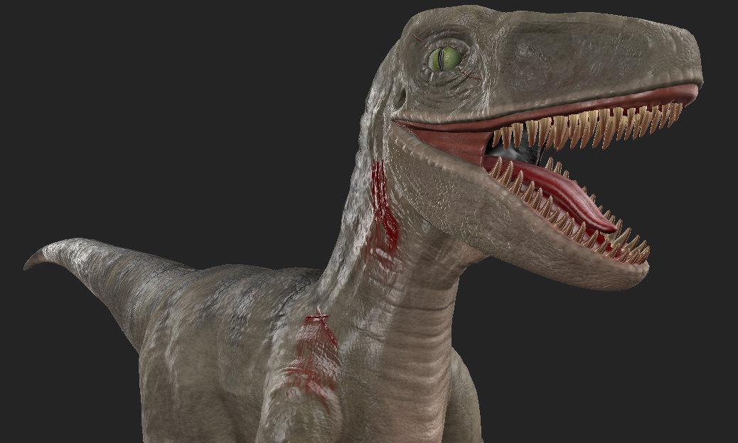 velociraptor ready games 3D model