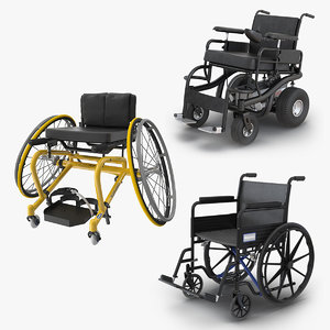wheelchairs 3 3D model