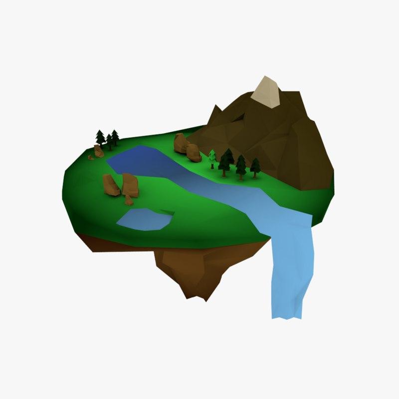 3D float island