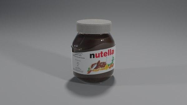 3D model nutella pot