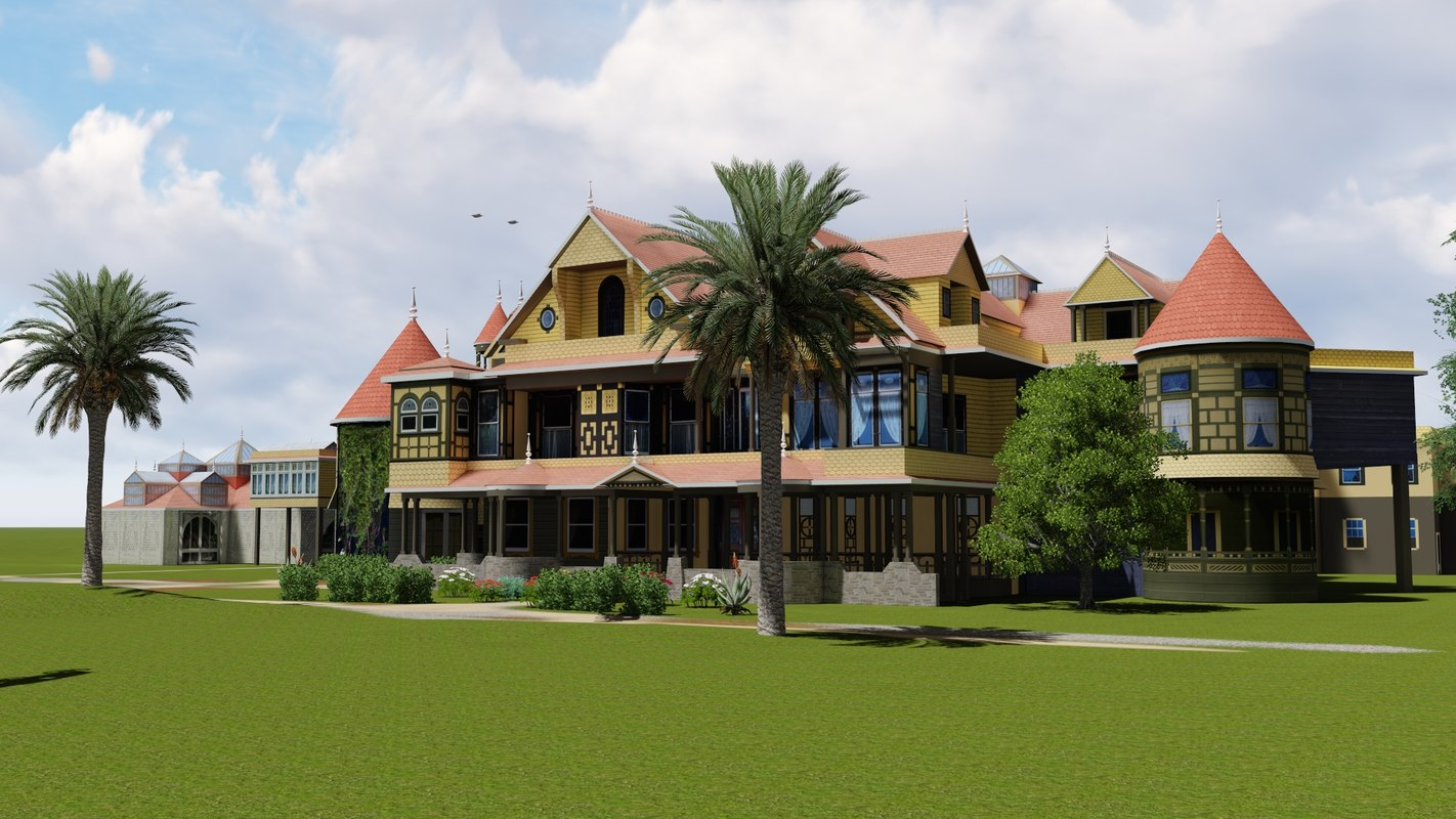 3D winchester mystery house