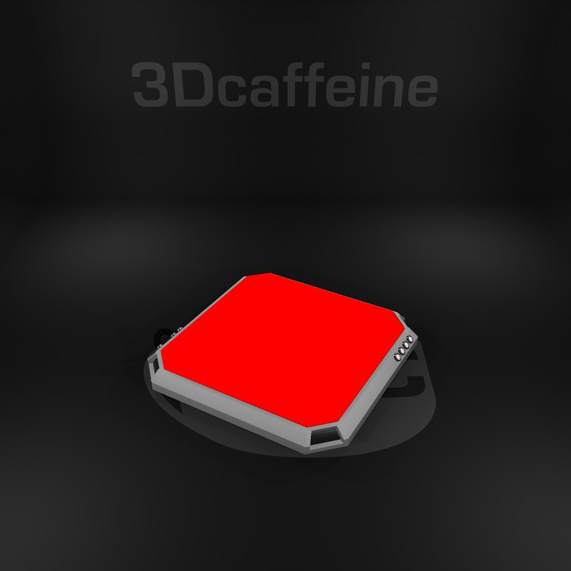 3D button ready engine model
