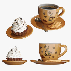 coffee cup cake 3D model