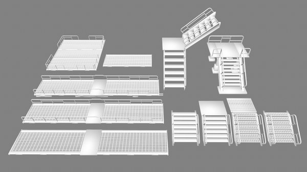 ladder stairs 3D