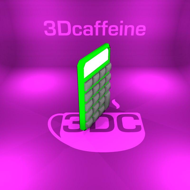 calculator ready engine 3D model