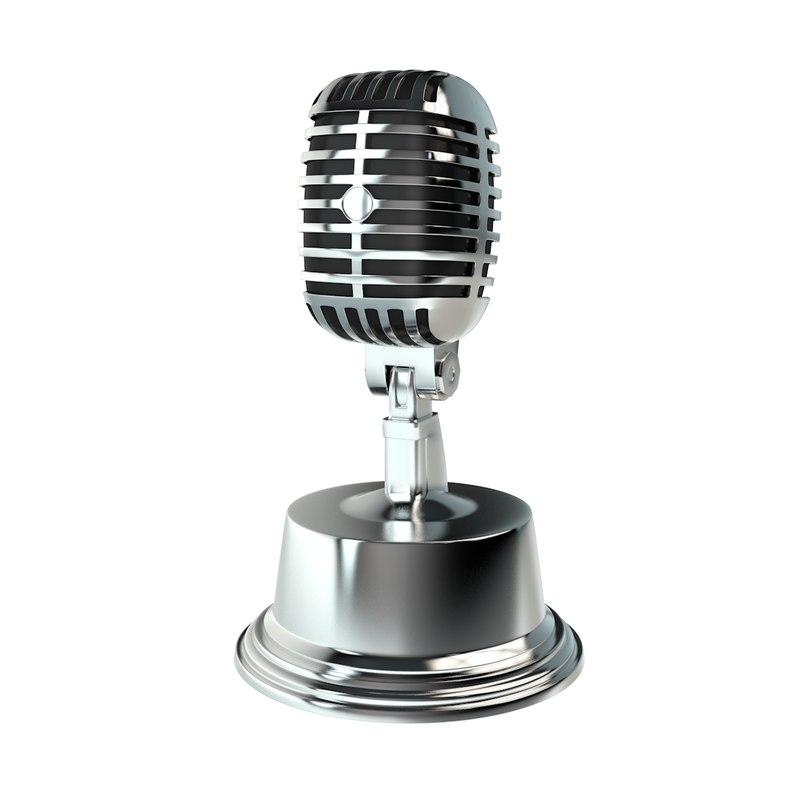 3D microphone studio model