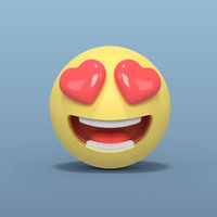 3D love smiley