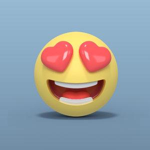 3D love smiley