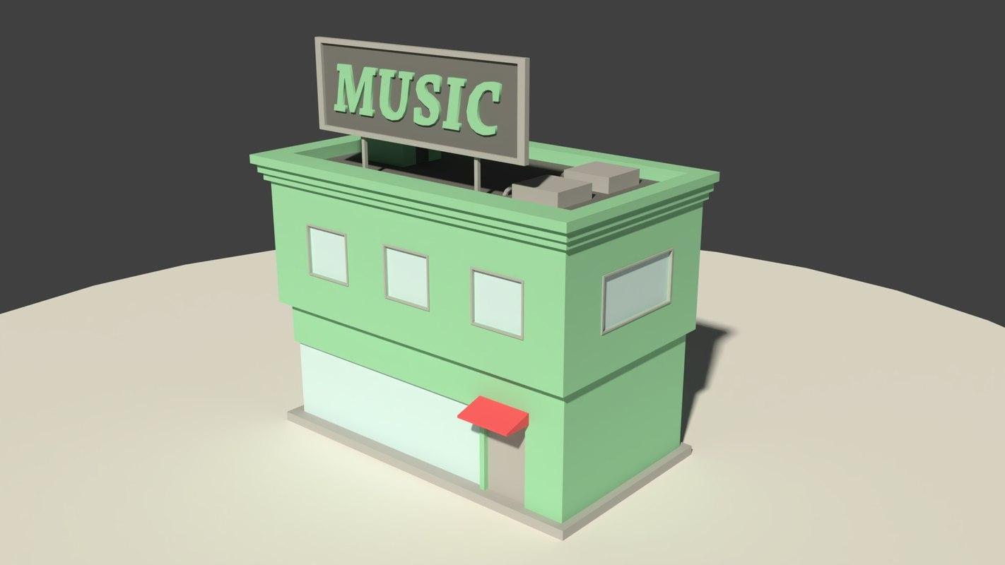 green music store 3D model