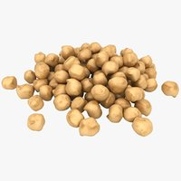 realistic chickpea pile 3D model