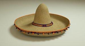 sombrero mexican 3D model