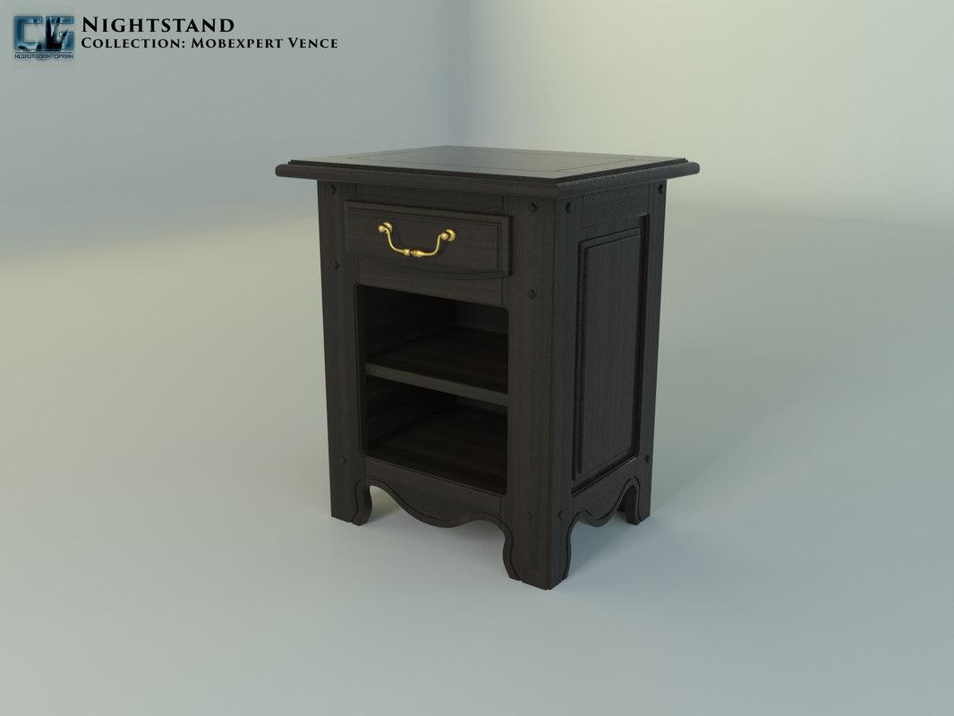3D nightstand mobexpert vence model