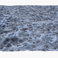3D frozen winter ground surface model