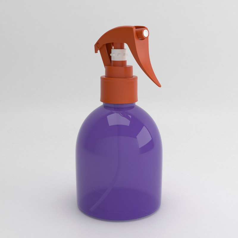 bottle 200ml spray 3D model