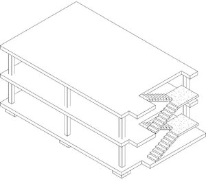house le corbusier 3D