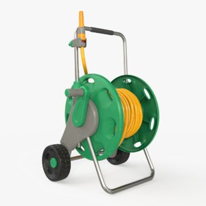 3D garden hose cart ar