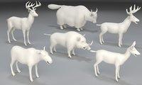 3D model 6 animals