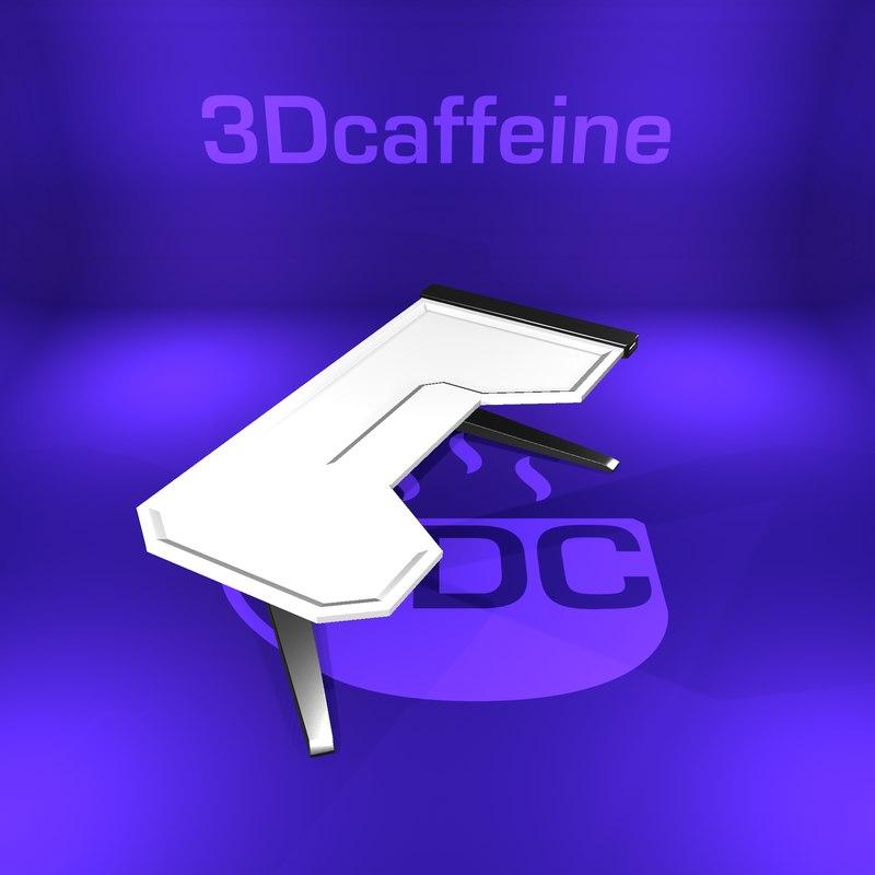 desk modern ready 3D model